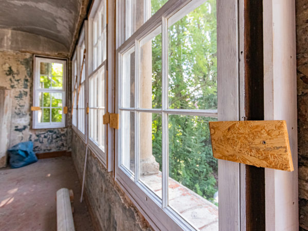 Historische Fenster der Schwemme   Halle a.d. Saale